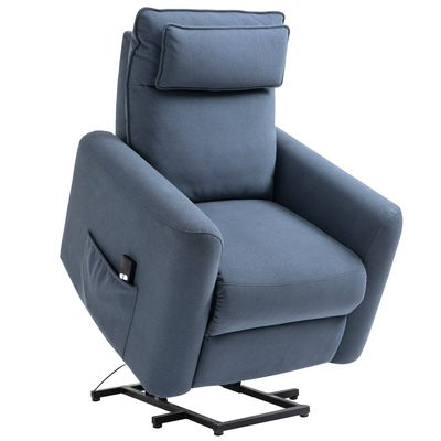 HOMCOM Electric Power Lift Recliner Chair Sofa Lounge with Headrest  Remote Control & Side Pocket for Living Room