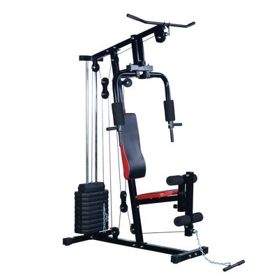 Soozier Home Gym Heavy Duty Body Strength Weight Training Bench Fitness Workout