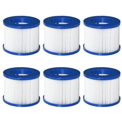 Outsunny 6 Pack Filter Cartridges Replacement for Spa Pools and Hot Tub, Cleaning Tool