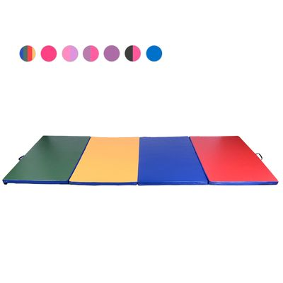 Soozier Gym Exercise Mat Folding Panel Aerobics 9.6'×3.8'×2'' Yoga Sport Gymnasium Home Multi-Color