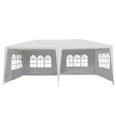Outsunny 10x20ft Wedding Party Tent Gazebo Canopy w/ 4 Removable Sidewalls White