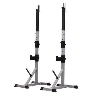 Soozier Barbell Stand Rack Squat Rack Adjustable for Home Gym Fitness