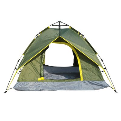 Outsunny 3-4 Person Double Layer Family Camping Hiking Instant Tent Auto