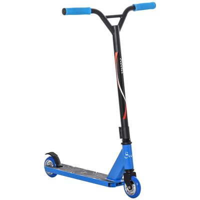 Soozier Stunt Scooter Aluminum Entry Level Freestyle Tricks Scooter w/ Rear Wheel Braking Kick Scooter f for Teenagers 14 Years and Up Blue