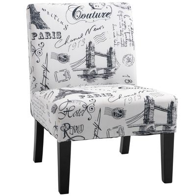 HOMCOM Modern Dining Chair In Hand-Painted Style Comfortable&Stable Dining Room  Bedroom