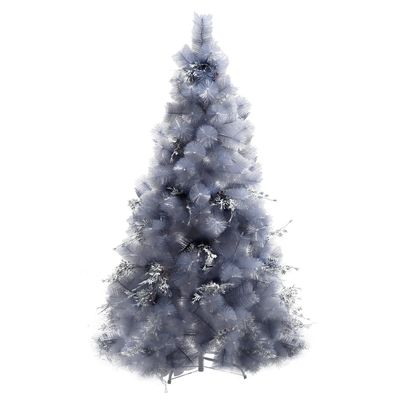HOMCOM 5FT Christmas Tree Artificial Classic Tree Holiday Indoor Decoration, with Mental Support 222 Tips, Green
