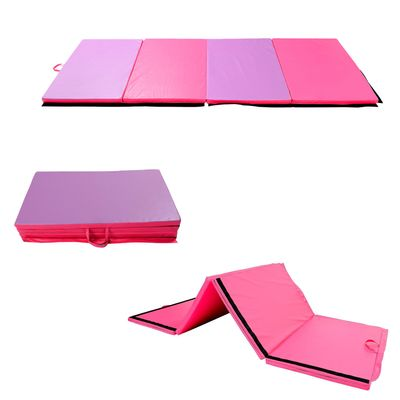 "Soozier 6' × 4' × 2"" Gymnastics Mats Mat Folding Panel Home Gym Yoga Stretch Pad"