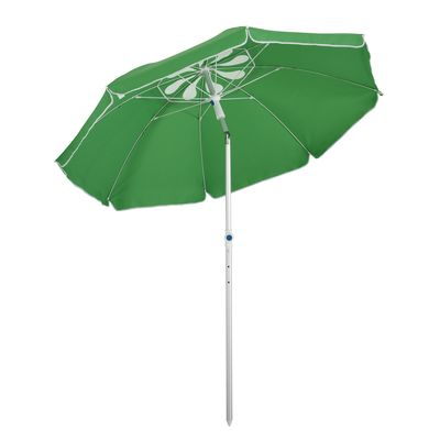 Outsunny Arc. 6ft Beach Umbrella with Pointed Design Adjustable Tilt Carry Bag for Outdoor Patio Green