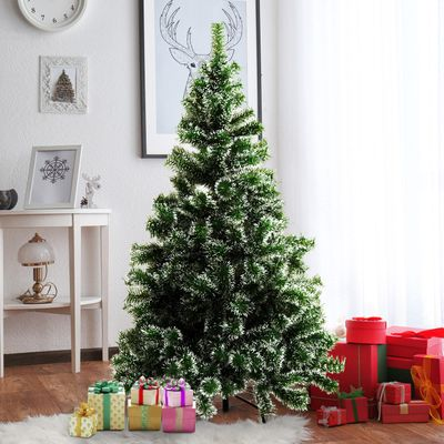HOMCOM 5FT Indoor Christmas Tree Artificial Decoration Xmas Gift with Metal Stand 416 Tips