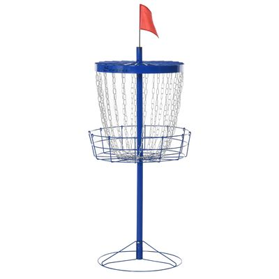 Soozier 24-Chain Portable Practice Basket for Disc Golf Target Stand Easy Assembly & Lightweight Basket w/ Carry Bag, Deep Blue