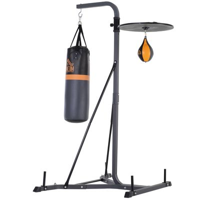 HOMCOM Punching Bag Stand with Punching Ball Load 220lb