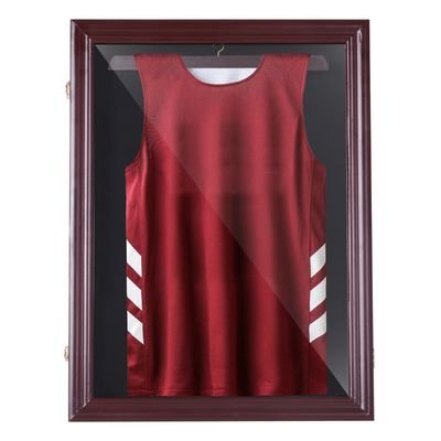 HOMCOM Jersey Display Case Memorabilia Sports Shirt Shadow Box