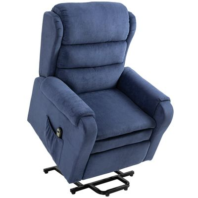 HOMCOM Electric Power Lift Recliner Chair with Remote Control for Elderly With Footrest  Reinforced Heavy Duty Reclining Mechanism  Living Room
