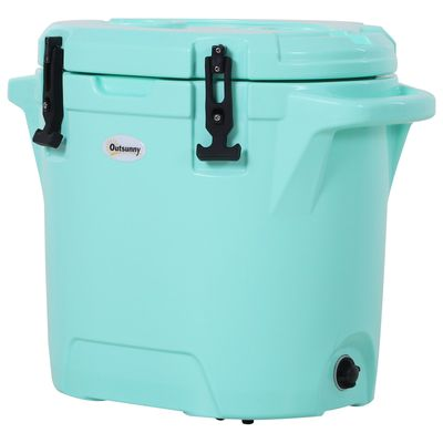 Outsunny Cute Cooler Box 25L Cooling Box Outdoor Portable Green