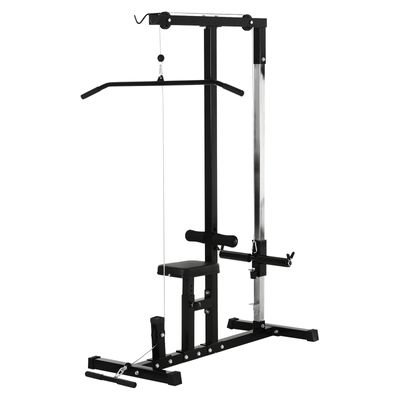 Soozier Exercise Pulldown Weight Machine with Multiple Adjustable Cable Positions for Strengthening Many Muscle Groups