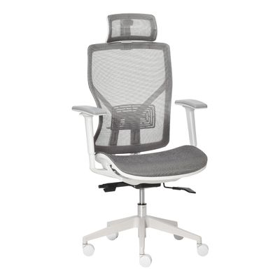 Vinsetto Ergonomic Office Chair with 360° , Wheel, Mesh Back, Adjustable Height & 3D Armrest for Home Office, Grey