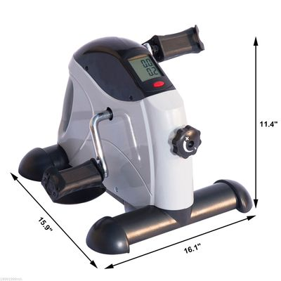 Soozier Pedal Exerciser Portable Mini Exercise Bike Indoor Cycle Fitness Hand Foot w/ LCD Display