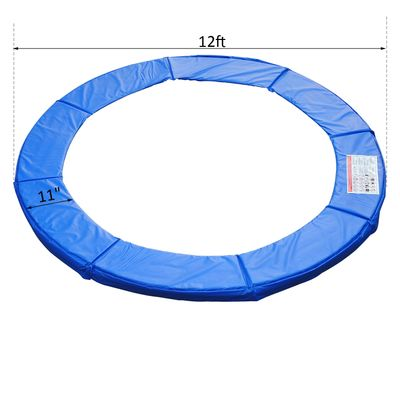 HOMCOM Φ12ft Trampoline Pad Spring Safety Replacement Gym Bounce Jump Cover EPE Foam (Blue)