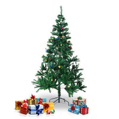HOMCOM 4.9ft Green Christmas Tree Artificial Xmas Holidays Party with Decoration Ornament