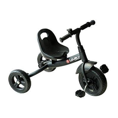 Qaba 3-Wheel Indoor / Outdoor Recreation Ride-On Toddler Tricycle with Bell for 3-6 Years Old - Black