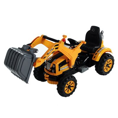 Aosom 6V Kids Ride On Toy Grave Digger Toy Truck Construction Excavator Tractor Vehicle