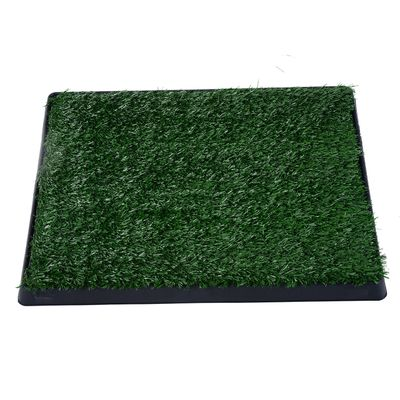 """PawHut 24"""" x 20"""" Portable Potty Training Fake Grass For Dogs and Small Animals"""