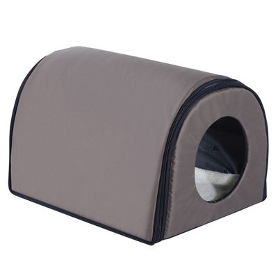 PawHut Heated Cat Houses for Indoor/Outdoor Elevated Pet House