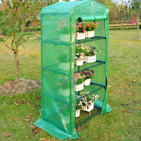 OUTSUNNY Greenhouse Plant Flower Compact 4 Tiers   Aosom Canada