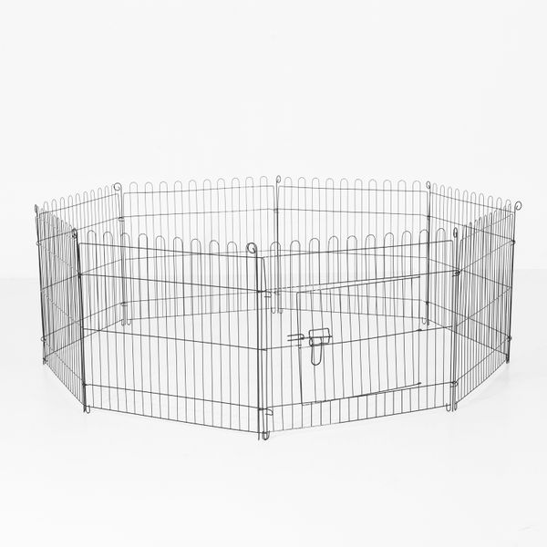 PawHut 24inch Foldable Metal Exercise Pet Playpen Yard Outdoor Dog Puppy Kennel Cage 8 Panel|Aosom Canada
