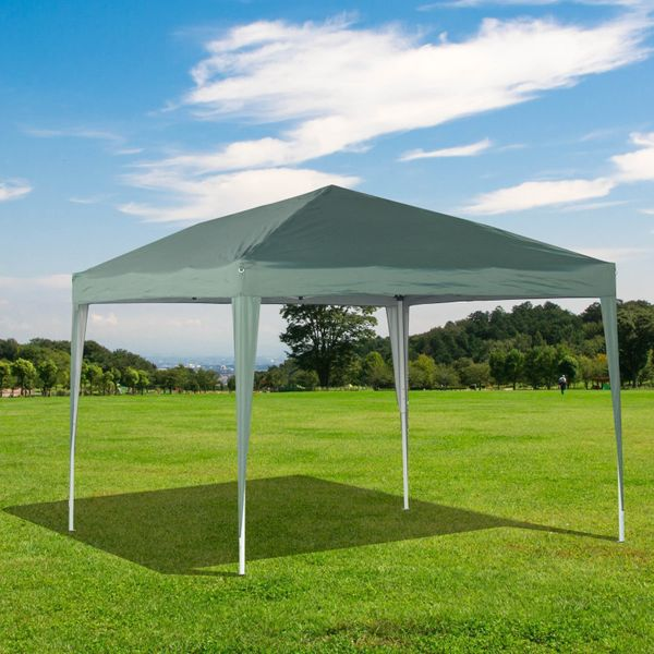 Outsunny 10x10ft Easy Pop Up Canopy Party Wedding Tent Outdoor Patio Shelter Green