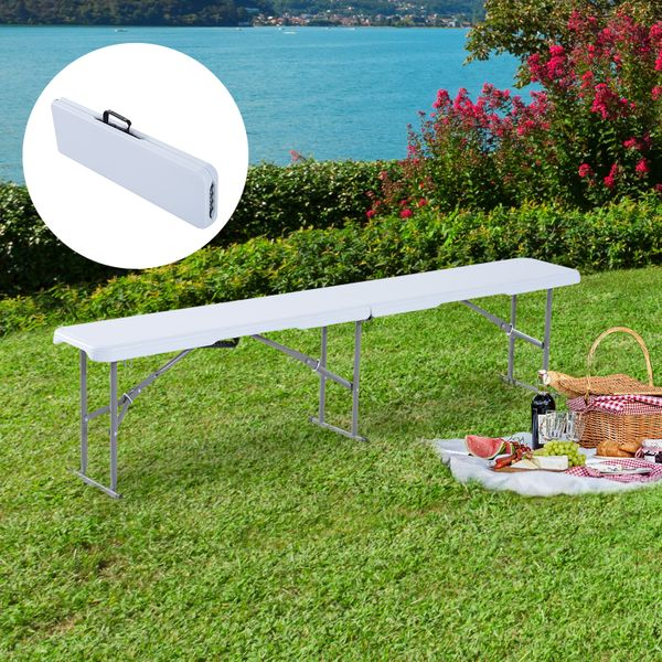 Outsunny 6' Long Folding Bench Outdoor Camping Picnic Garden Party Seat|Aosom.ca