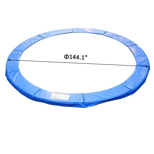 HOMCOM Φ12ft Trampoline Pad Spring Safety Replacement Gym Bounce Jump Cover EPE Foam (Blue) | Aosom Canada