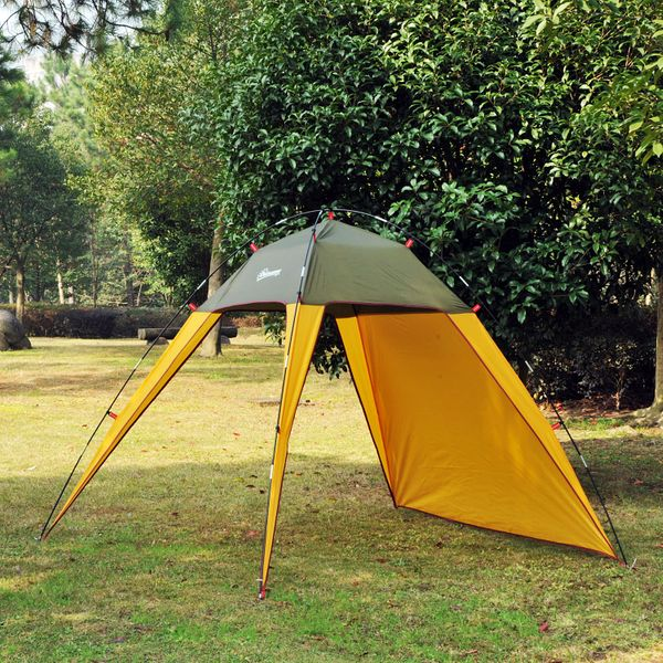 Outsunny Outdoor Beach Tent Shelter Sun Shade Patio Camping Fast Pitch Tents|Aosom.ca
