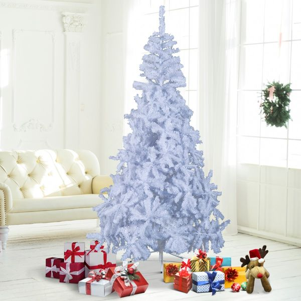 HOMCOM 6.9 ft Christmas Tree Gift Holiday Decoration with Stand White   Aosom Canada