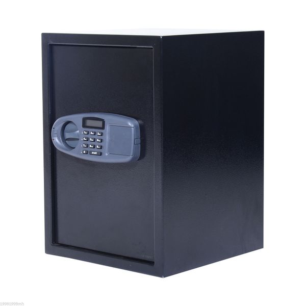 HOMCOM Electronic Wall Safe Box Digital Lock Standing Safety Security for Cash Jewelry Home Office Hotel Black  | Aosom Canada
