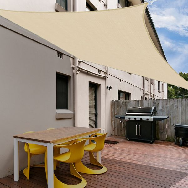 Outsunny 12ft Square Sun Shade Sail Canopy Shelter Cover Canopy Sand Carrying bag
