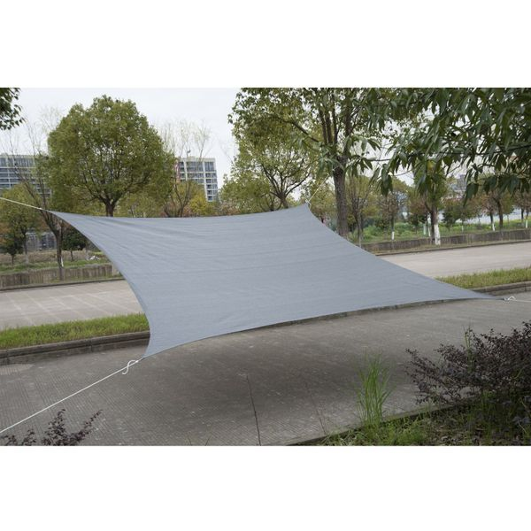 Outsunny 12' Square Sun Shade Sail Canopy Outdoor Lawn Shelter UV Blocking Grey |Aosom.ca