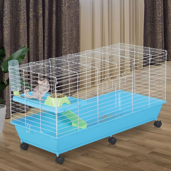 PawHut Small Animal Pet Cage Rolling with Essentials|Aosom Canada