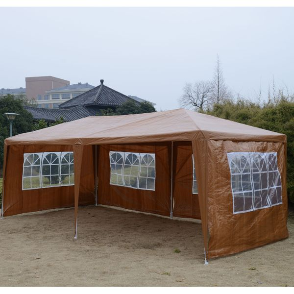 Outsunny Party Tent 10'x20' Coffee | Aosom.ca