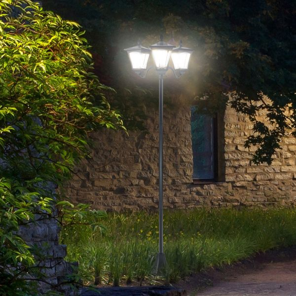 Outsunny Outdoor Garden Solar Light Energy-efficient with Base|Aosom Canada