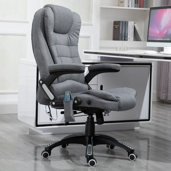 Vinsetto Luxury Massage Office Chair High Back Swivel Adjustable Vibrating Chair Grey | Aosom Canada
