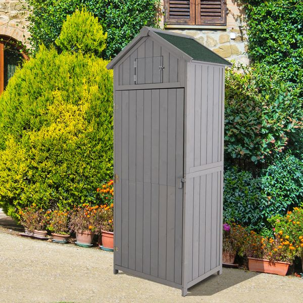 Outsunny Garden Shed Workshop Water-resistant All-weather Cover -Grey|AOSOM.CA
