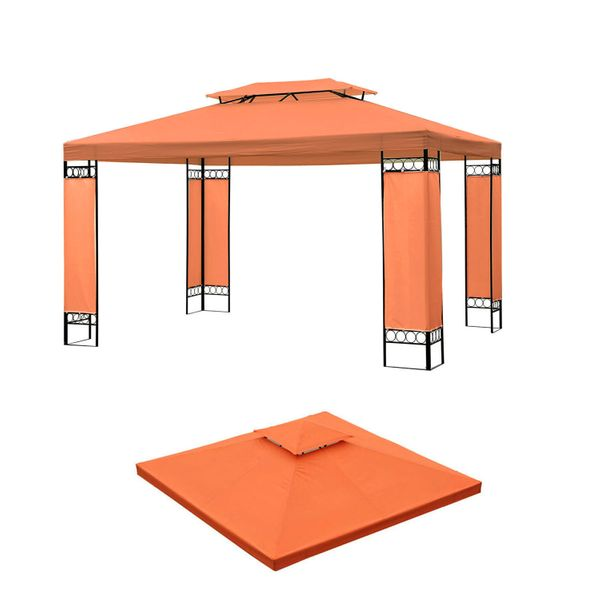 Outsunny 9.84x9.84ft Double Tier Canopy Top Replacement Sun Shade Outdoor Garden