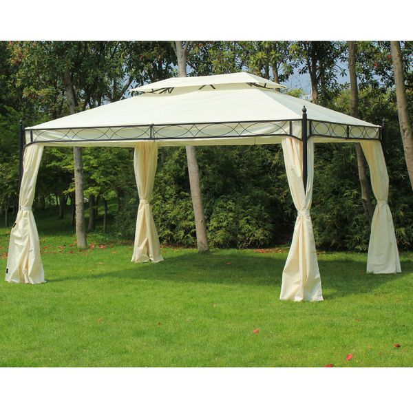 Outsunny Party Gazebo Tent, 3x 4m, Cream | Aosom Canada