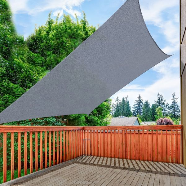 Outsunny Rectangle 13'x20' Sail Shades Grey | Aosom.ca