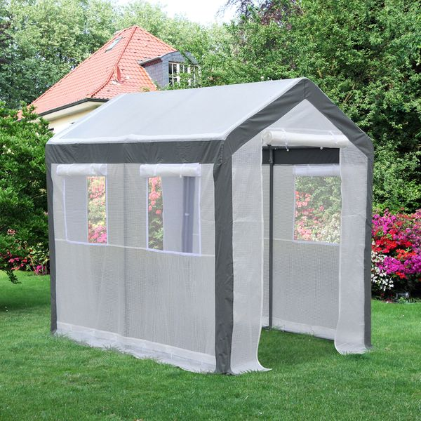 Outsunny 6 x 8ft Greenhouse Walk-in Portable Gardening Plant Flower Hot Backyard|Aosom.ca