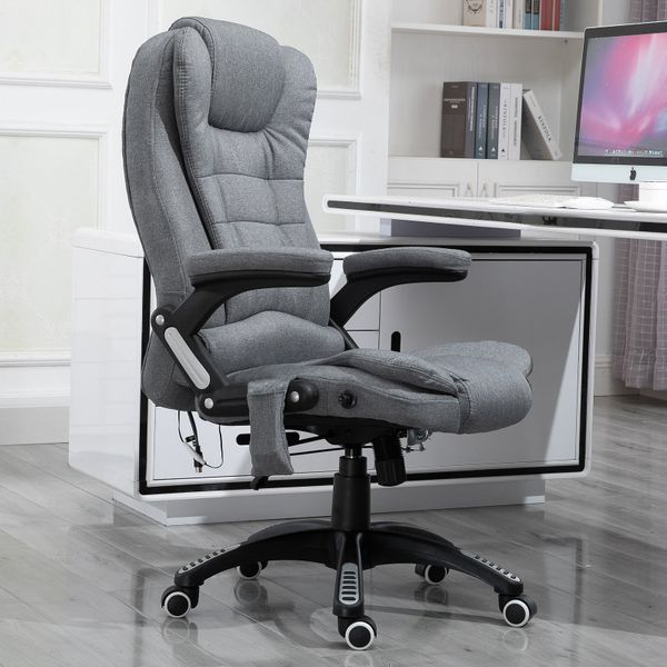 Vinsetto Massage Recliner Relax Head 130° Office Chair Reclining Chair Gray|Aosom Canada