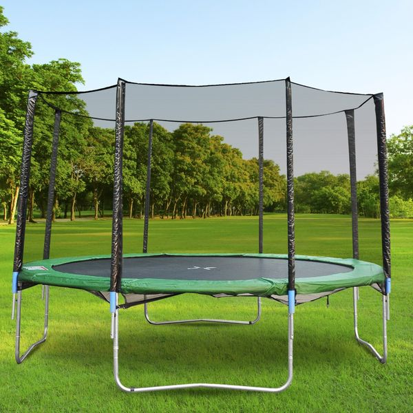 HOMCOM Aosom 12ft Round Trampoline Enclosure Trampolining Bounce Safety Net Frence Replacement, Trampoline Net Only