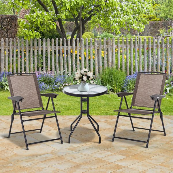 Outsunny Folding Adjustable Outdoor Furniture Patio Furniture Set Dining Bar Table Chairs Garden for Recreation | Aosom Canada