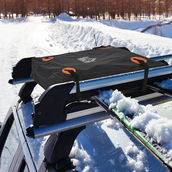 HOMCOM 20 Cubic Feet Car Roof Bag Waterproof Rooftop Cargo Carrier for Any Cay Van or SUV With or Without Roof Rack | Aosom Canada